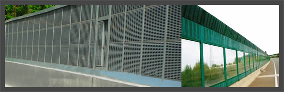 Perforated Aluminum Highway Barriers