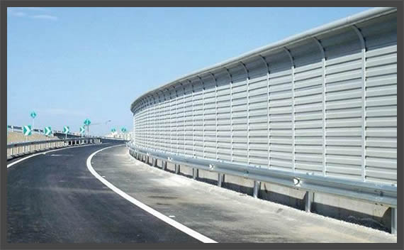 Acoustical Panels Made of Aluminum for Highway Fencing