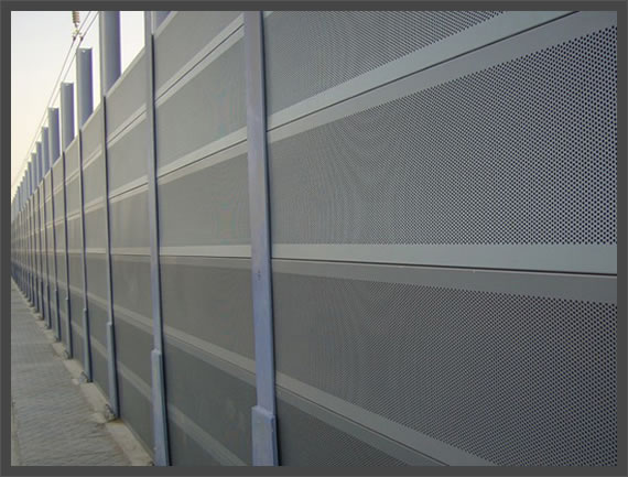 Perforated Metal Wind and Sound Barriers