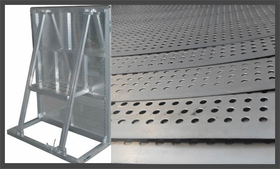 Perforated Metal Portable Fence