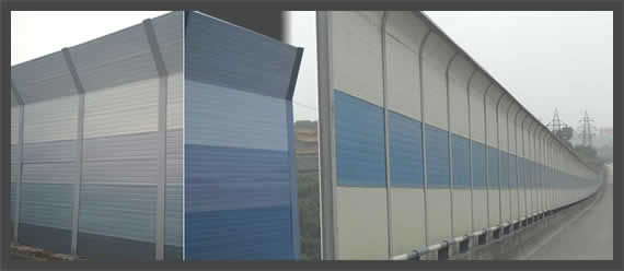 Road Sound Reduction Acoustic Panel Barrier